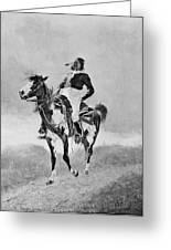 Remington: Comanche, C1890 Greeting Card