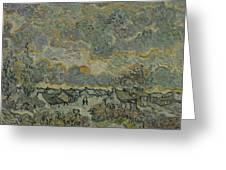 Reminiscence Of Brabant Saint Remy De Provence March - April 1890 Vincent Van Gogh 1853  1890 Greeting Card