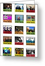 Remix - Artists Page  Greeting Card
