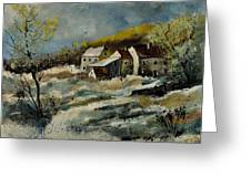 Remote Houses In The Ardennes  Greeting Card