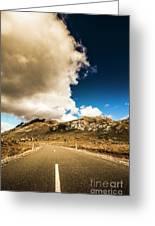 Remote Rural Roads Greeting Card