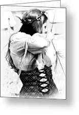 Renaissance Archeress Greeting Card