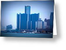 Gm Renaissance Center In Downtown Detroit, Michigan Greeting Card