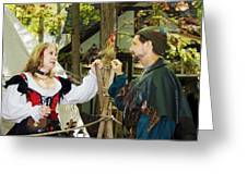 Renaissance Faire With Hen Greeting Card