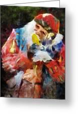 Renaissance Man With Corn On The Cob Greeting Card