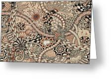 Renaissance Tangle Art Greeting Card