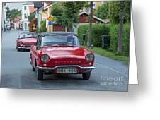 Renault Caravelle Greeting Card