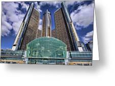 Rencen Detroit Gm Renaissance Center Greeting Card