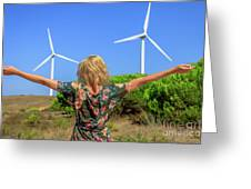 Renewable Energy Concept Greeting Card