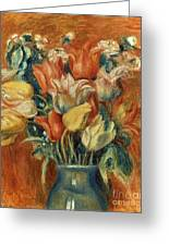 Renoir: Bouquet Of Tulips Greeting Card by Granger