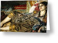 Renoir: Odalisque, 1870 Greeting Card