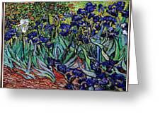 replica of Van Gogh irises Greeting Card