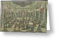 Representation D'un Bal De Noblesse Greeting Card