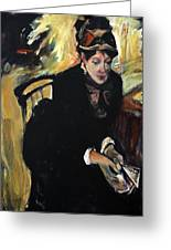 Reproduction Of Degas-portrait Of Mary Cassatt Greeting Card