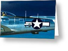 Republic P-47n Thunderbolt Greeting Card