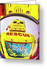 Rescue Yellow Bot Greeting Card