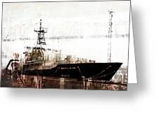 Research Vessel Atlantis In Astoria Oregon Greeting Card