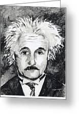 Resemblance To Einstein Greeting Card