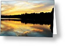 Reservoir Sunset 1 Greeting Card