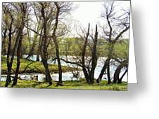 Resevoir In The Calf Pasture Greeting Card