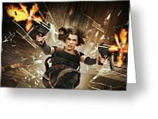 Resident Evil Afterlife Greeting Card