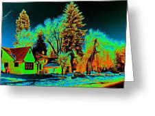 Residential Spokane In Cosmic Winter Greeting Card