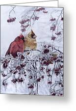 Resilient Reds - Northern Cardinals Greeting Card
