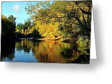Yamhill River Reflections Greeting Card