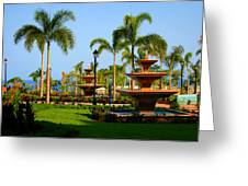 Resort Fountains Greeting Card