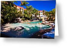 Resort Pool Greeting Card