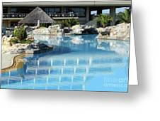 Resort With Swimming Pool Greeting Card