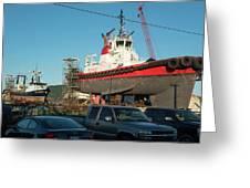 Response In Anacortes Drydock Greeting Card