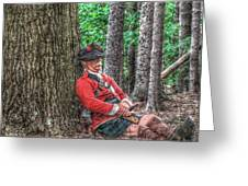 Rest From The March Royal Highlander Greeting Card