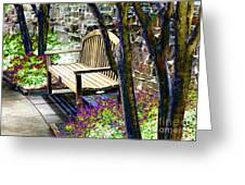 Rest In The Garden Greeting Card