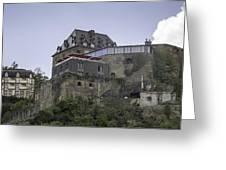 Restaurant At Rheinfels Castle Greeting Card