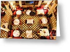 Restaurant Palais Des Merinides Fes Morocco Paint  Greeting Card