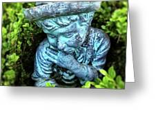 Restful Moment In The Garden Greeting Card