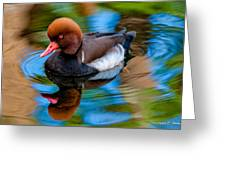 Resting In Pool Of Colors Greeting Card