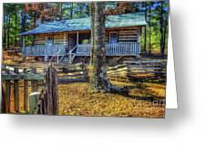 Restored Log Cabin Greeting Card