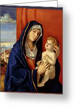 Restored Old Master Madonna And Child  Greeting Card