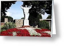 Resurrection Of Jesus Statue Greeting Card by Rose Santuci-Sofranko