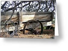 Retired Farm Wagon Greeting Card