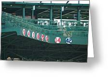 Retired Numbers Greeting Card