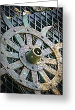 Retired Plow Wheel Greeting Card