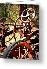 Retired Wheels Greeting Card