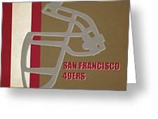 Retro 49ers Art Greeting Card