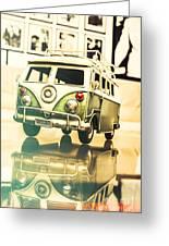 Retro 60s Toy Van Greeting Card