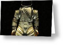 Retro Astronaut Greeting Card