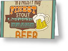 Retro Beer Sign-jp2917 Greeting Card