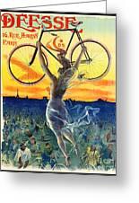 Retro Bicycle Ad 1898 Greeting Card